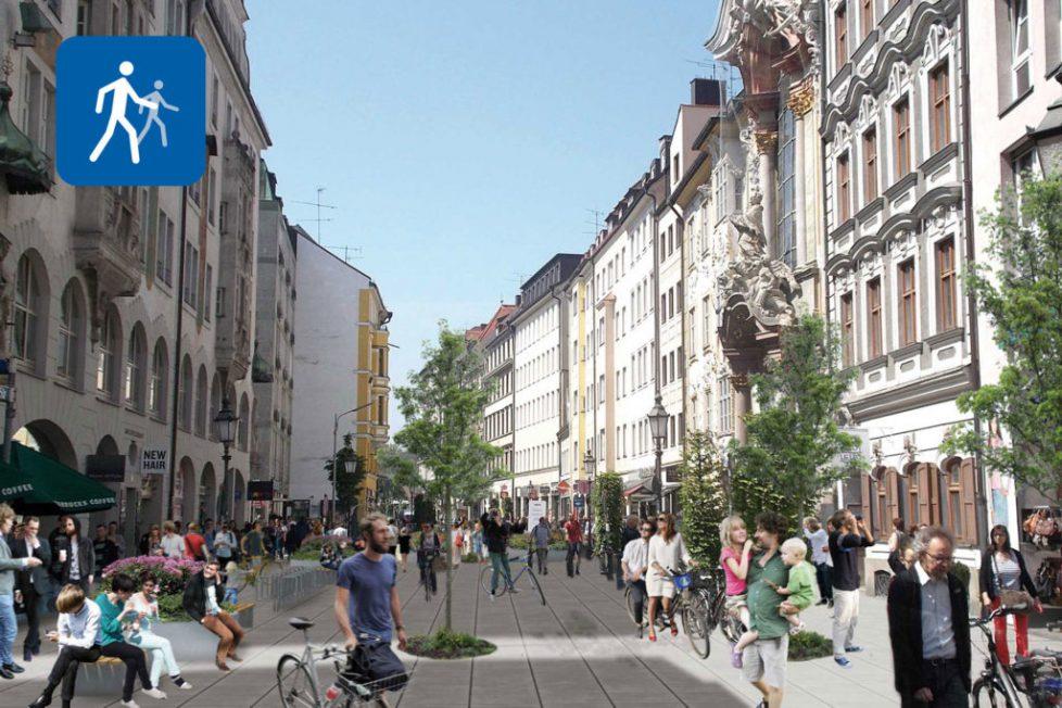 VCD München: So kann die Sendlingerstraße in München aussehen.