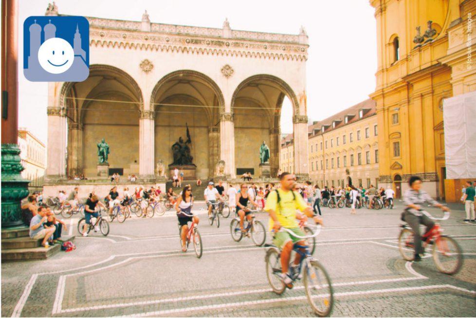 Freie Fahrt für Radlfahrer am Odeonsplatz