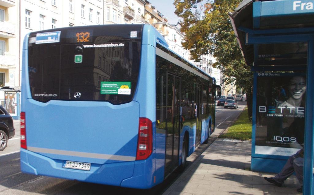 Ein Bus der MVG nahe der Innenstadt