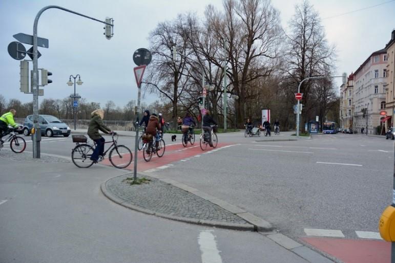 Radwegmarkierung